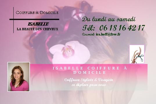 Carte De Visite Isabelle Coiffure A Domicile